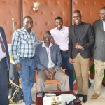 Global Communities team when they paid a courtesy call on Governor Rasanga at his office