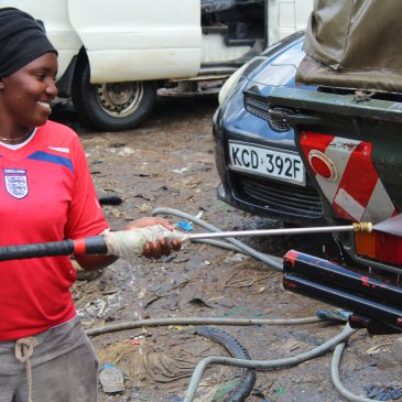 A Survivor of Gender-based Violence Excelling in Car Wash Business