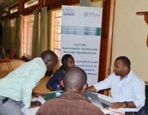 Potential Buyers & Sellers in livestock value chain striking deals during the B2B held in Eldoret in October,2016