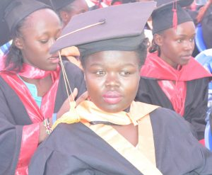 Elsie Oungo during her graduation day held on December 16,2016.
