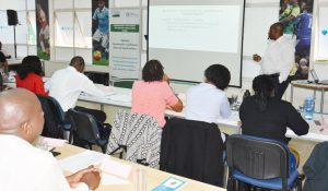 Barclays Bank Kenya employees being trained on Agriculture Lending Fundamentals, a topic under ECAF