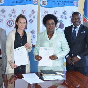 SIGNING OF MoU BETWEEN BOMET COUNTY AND GLOBAL COMMUNITIES